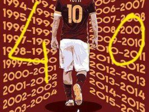 Auguri all'ottavo re di Roma Francesco Totti…e so' 40